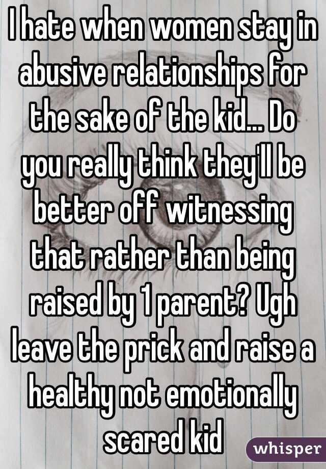 Why Women Stay In Emotionally Abusive Relationships