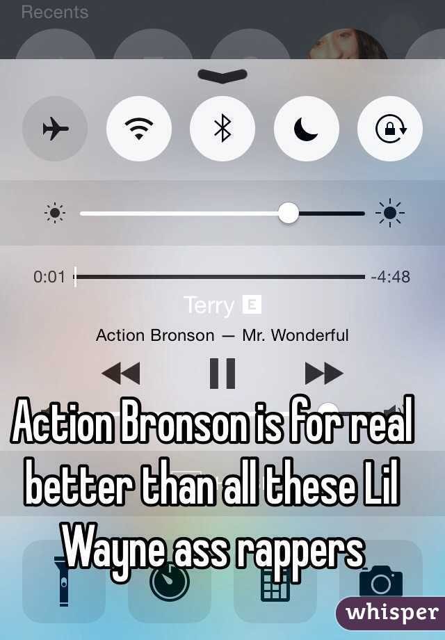 Action Bronson is for real better than all these Lil Wayne ass rappers