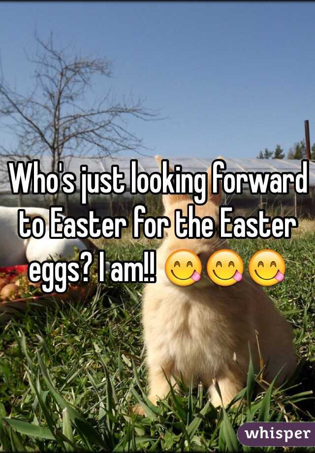Who's just looking forward to Easter for the Easter eggs? I am!! 😋😋😋
