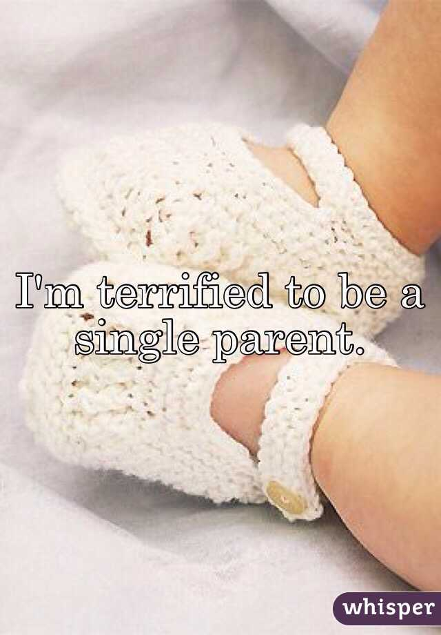 I'm terrified to be a single parent.