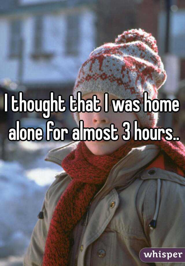 I thought that I was home alone for almost 3 hours..