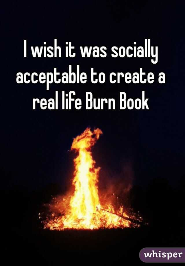 I wish it was socially acceptable to create a real life Burn Book