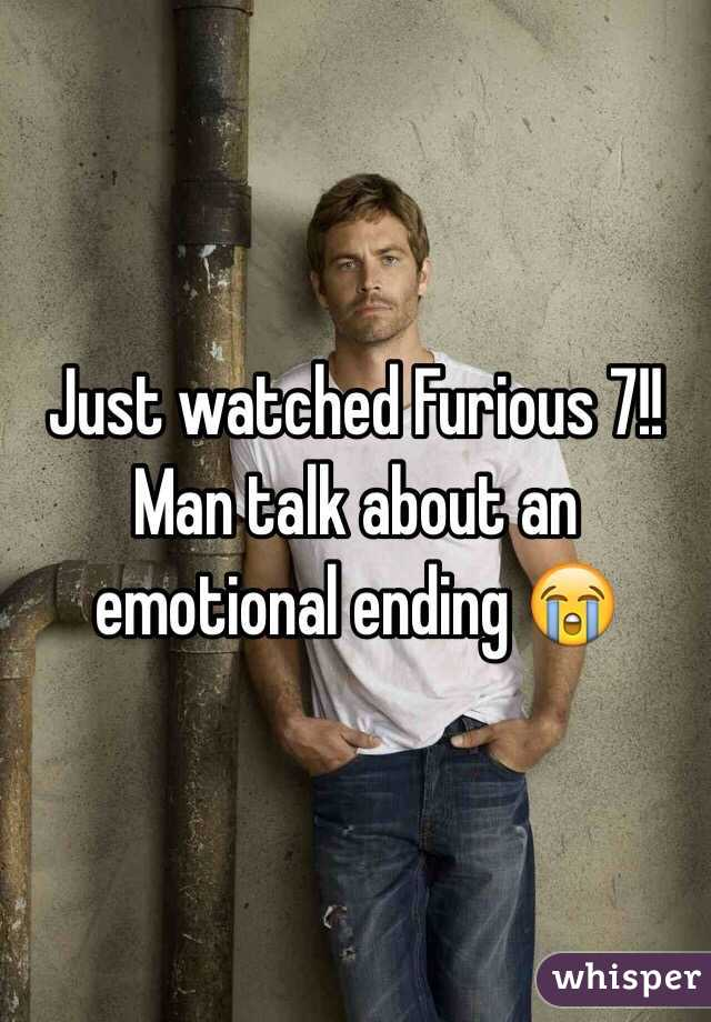 Just watched Furious 7!! Man talk about an emotional ending 😭