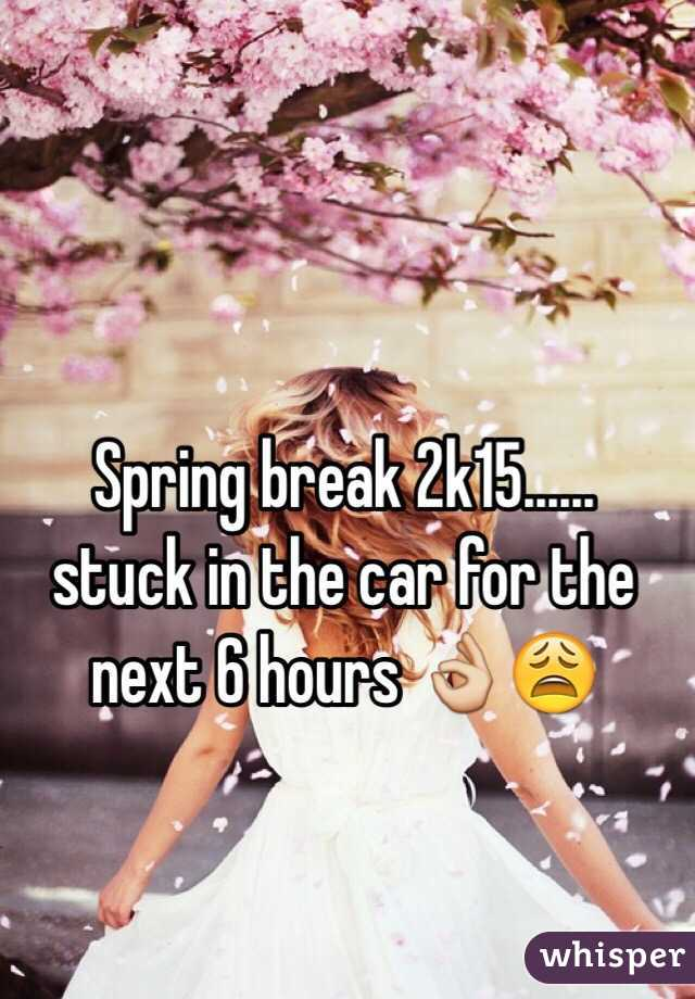 Spring break 2k15...... stuck in the car for the next 6 hours 👌😩