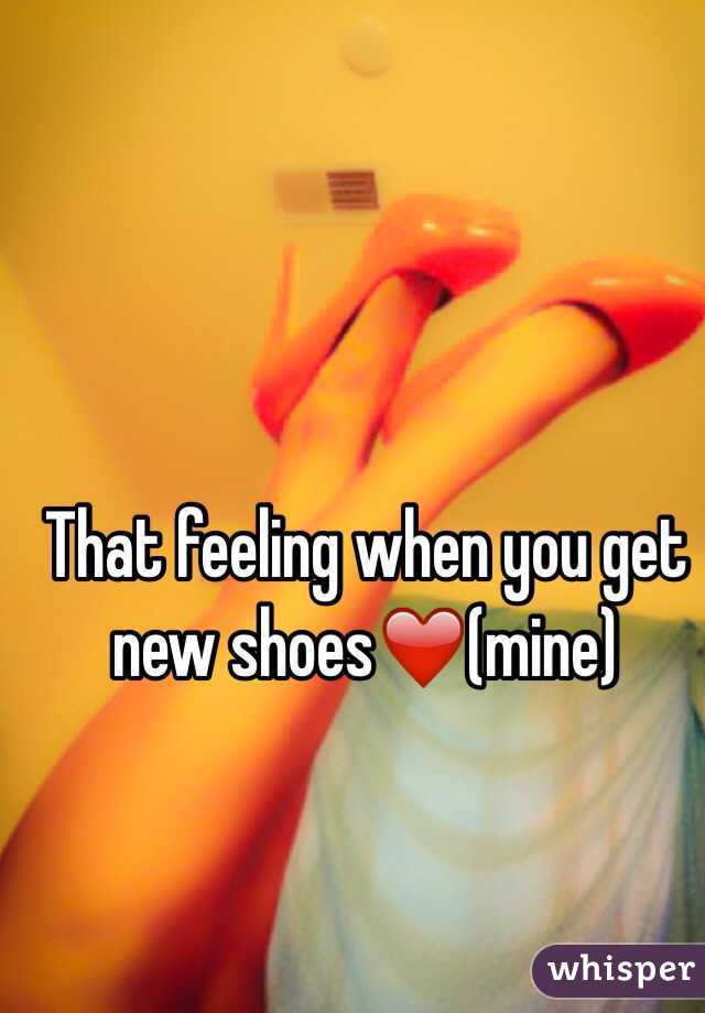 That feeling when you get new shoes❤️(mine)