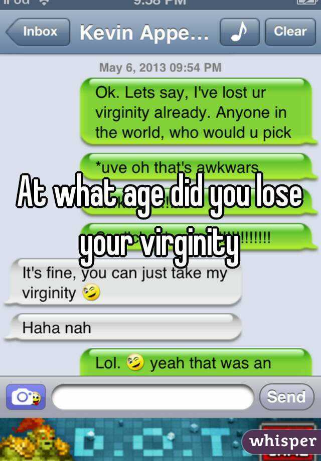 Are mistaken. did you lose your virginity