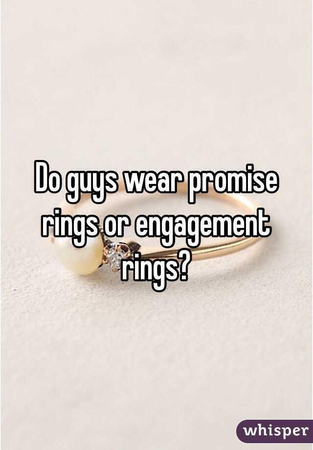 where do guys wear promise rings