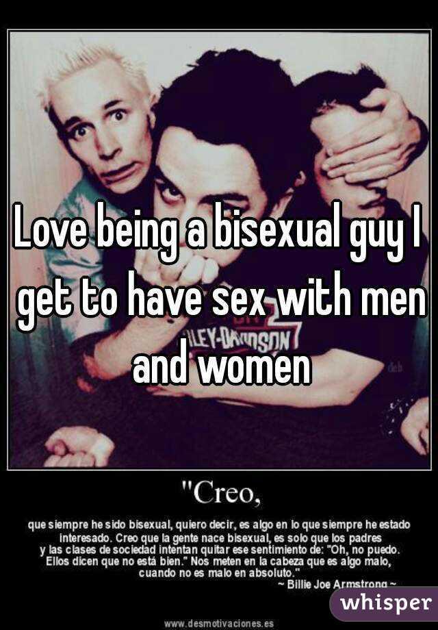 Women who love bisexual guys