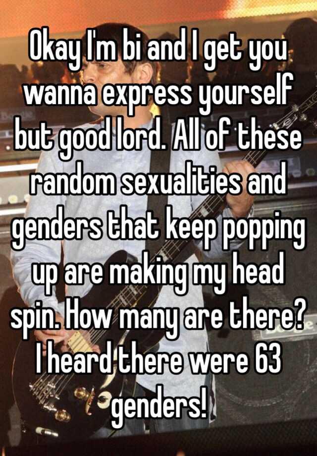 63 genders