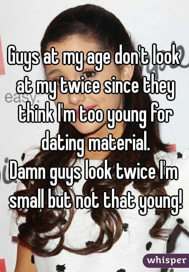 Im dating someone twice my age