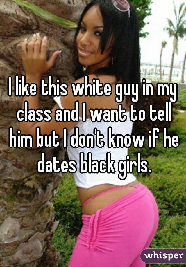 Black girls prefer white men