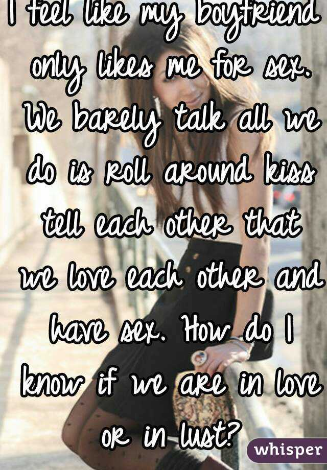How do we know that we are in love