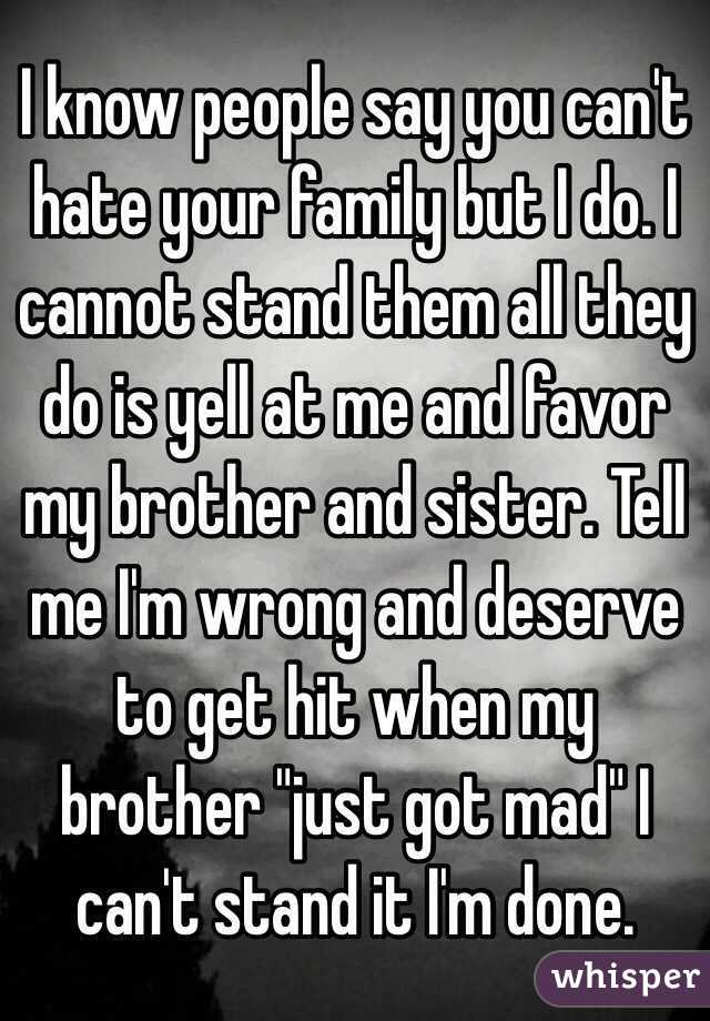 What to do when you hate your family
