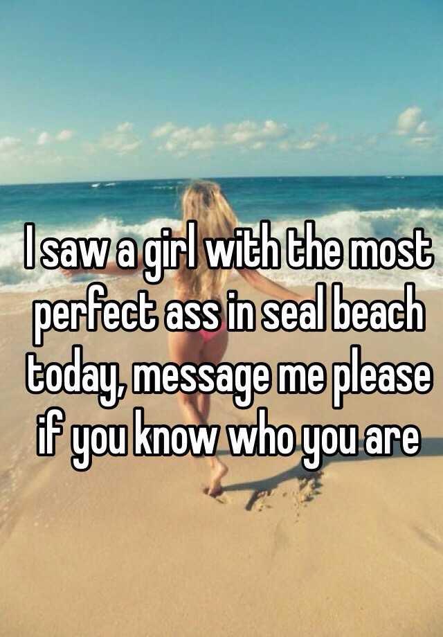 Perfect ass beach