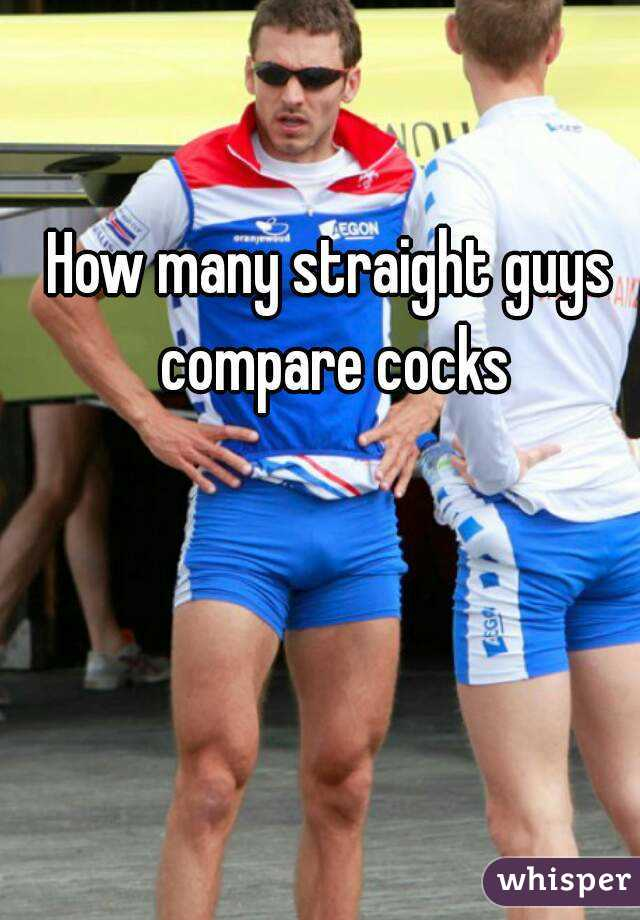 Straight guys comparing cocks