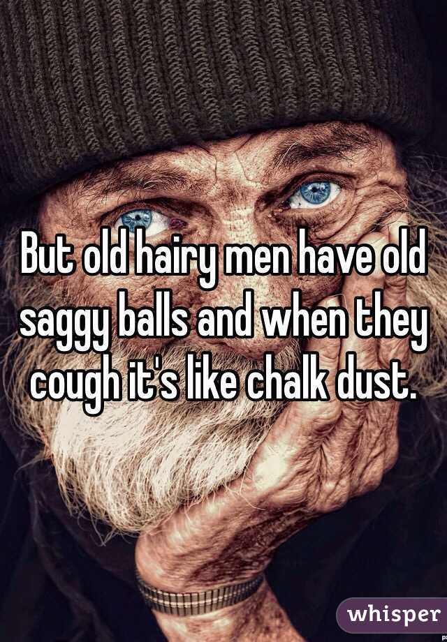 Old hairy men with