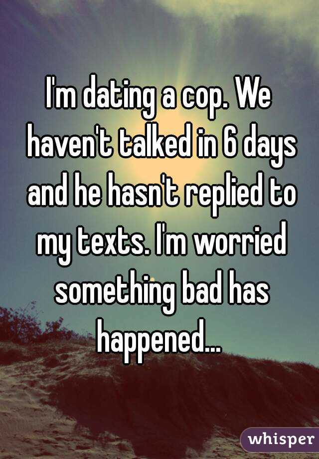 Bad things about dating a cop