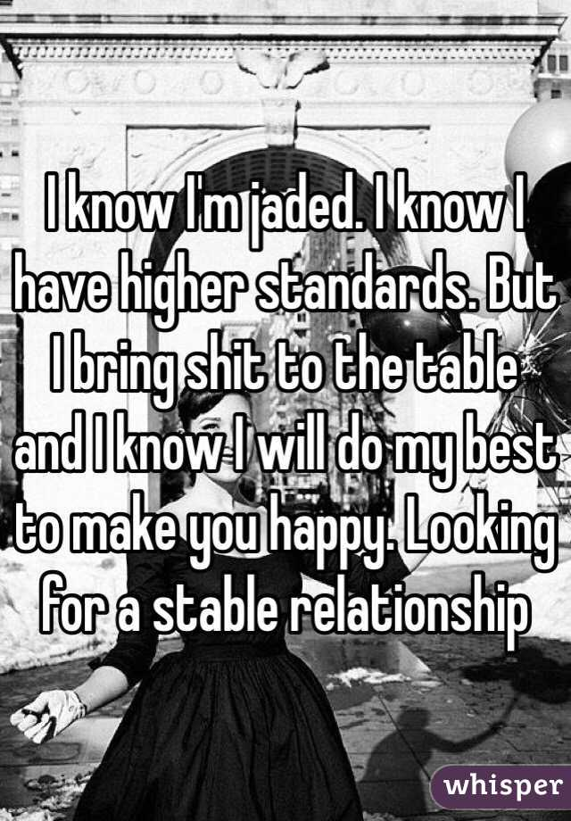 Jaded relationship