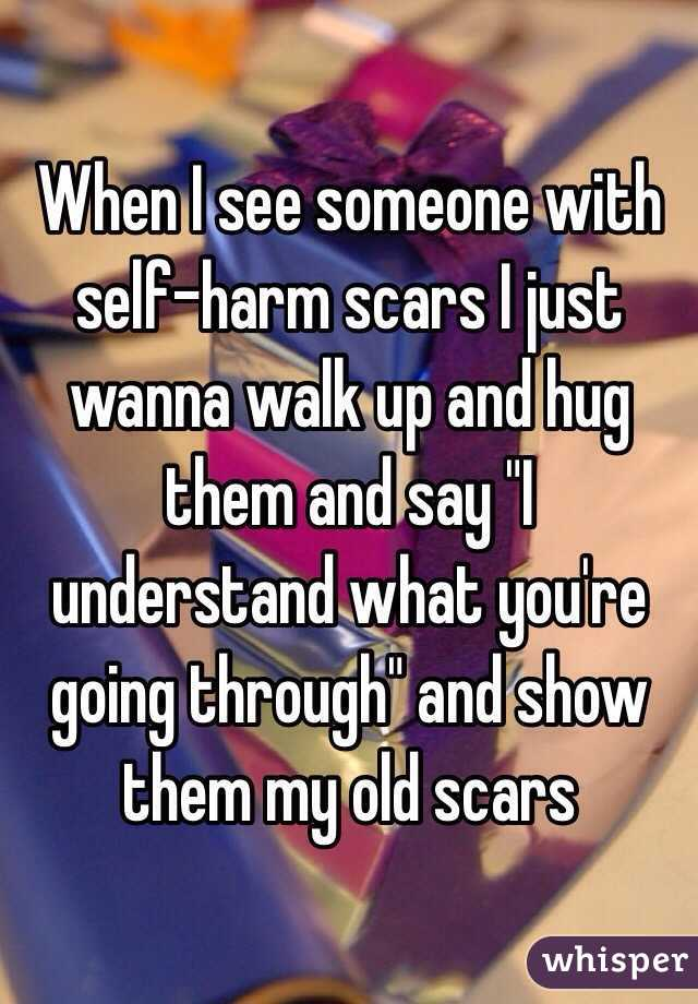 showing my self harm scars and dating