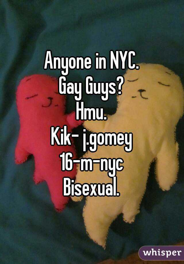 Gay kik nyc