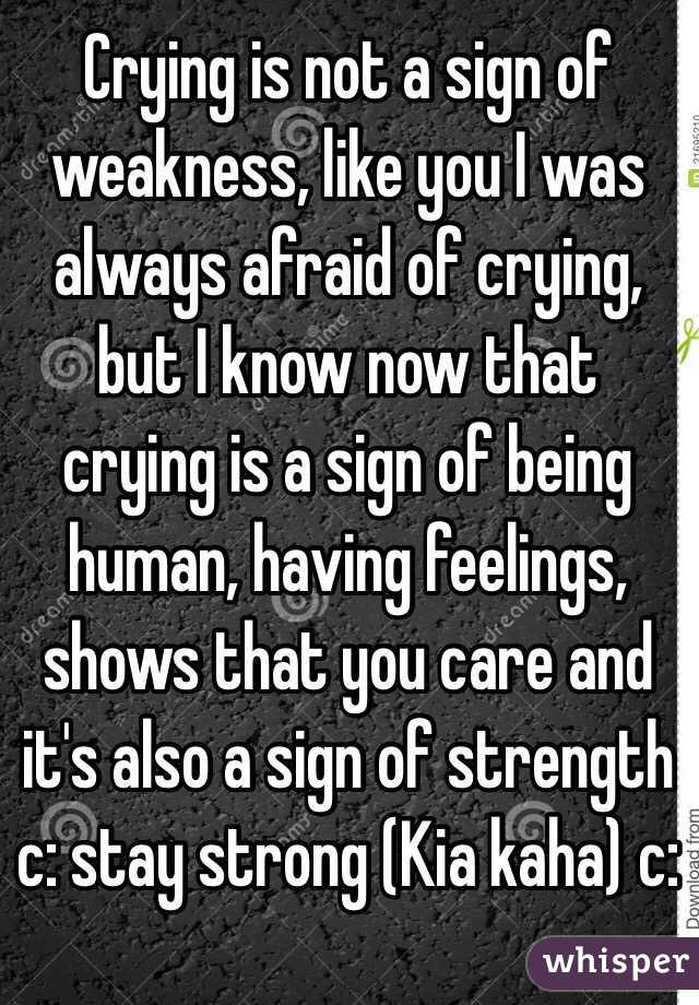 crying is not weakness