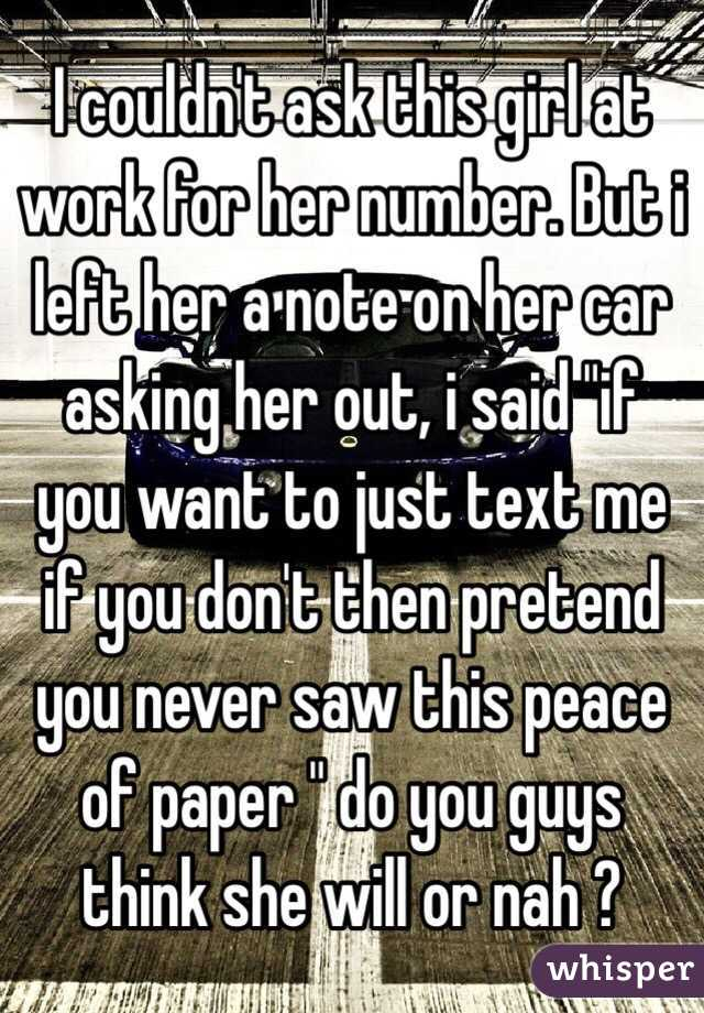 Ask a girl out at work opinion you