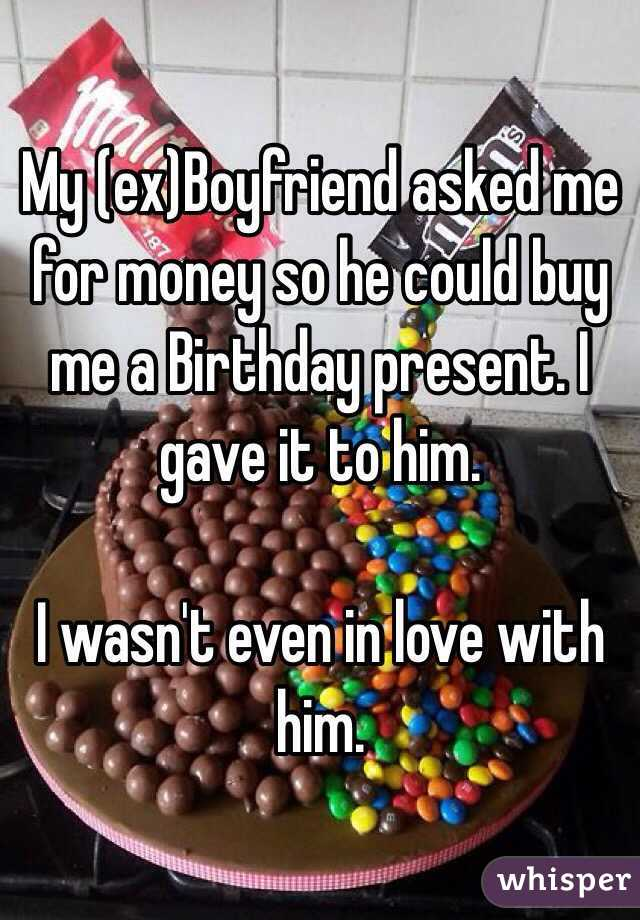 Should I buy my ex boyfriend a birthday present?