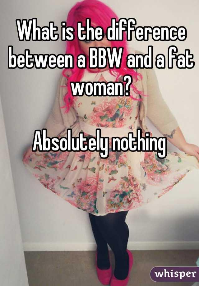 What is a bbw woman