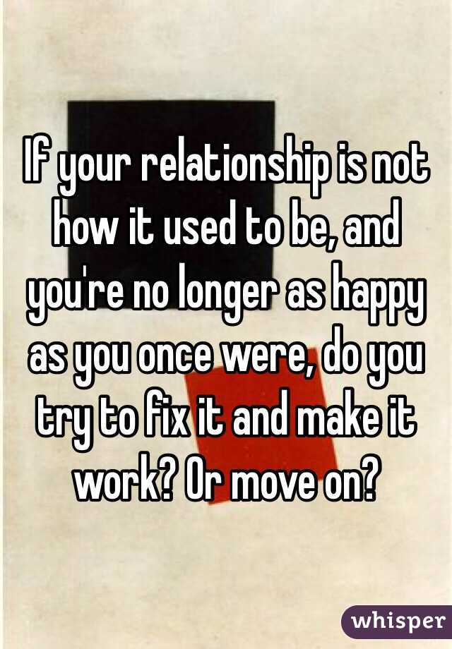no longer happy in a relationship