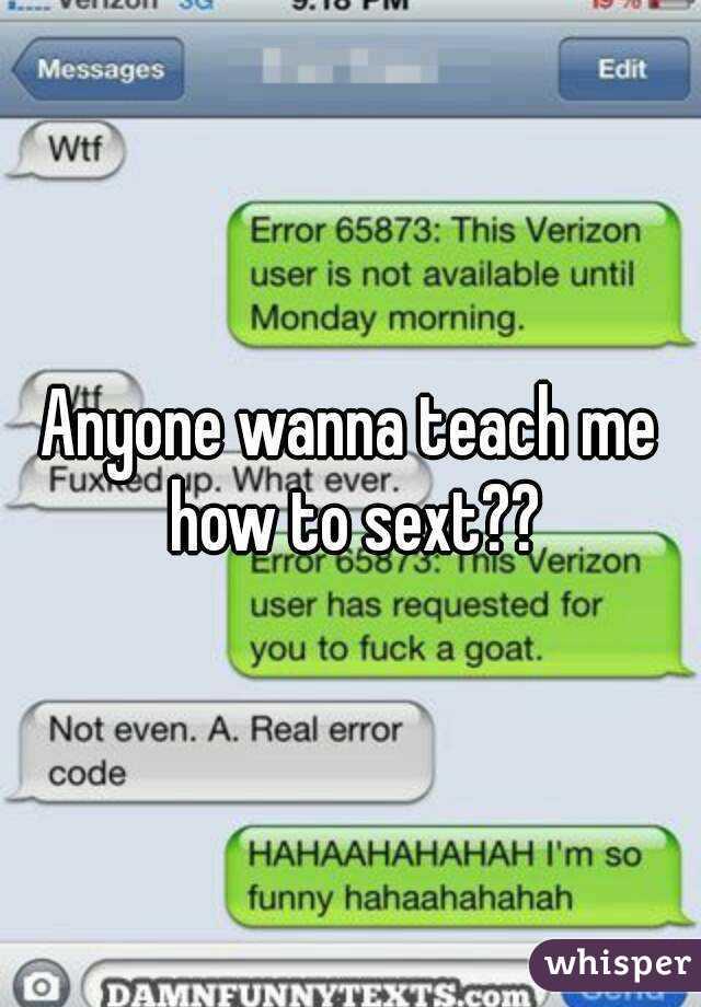 Wanna sext