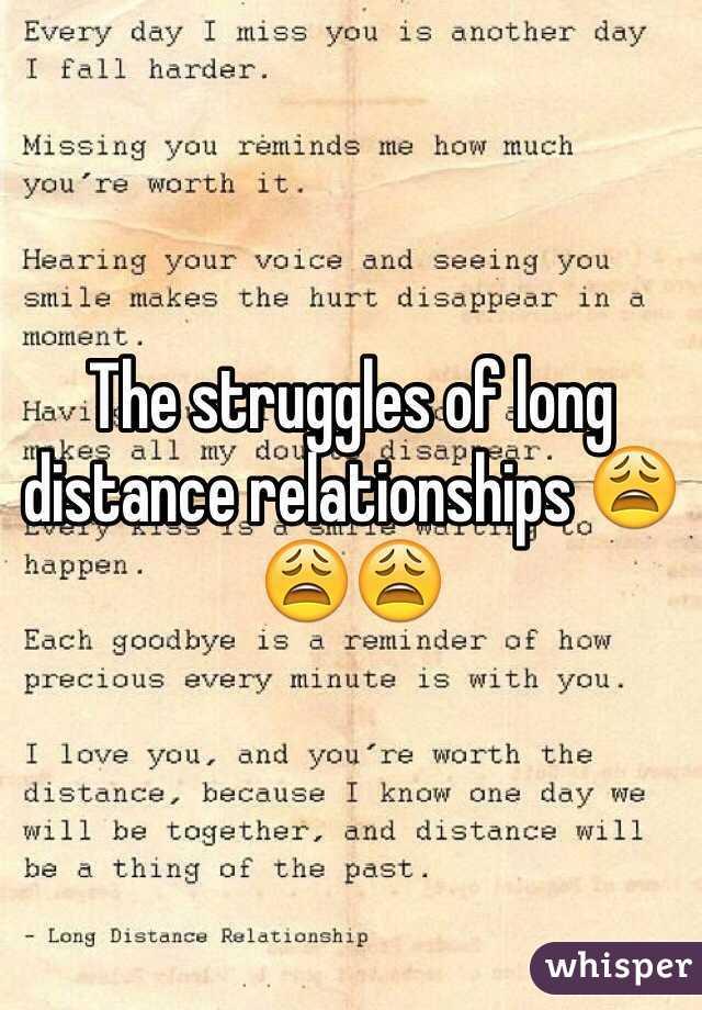 Long distance relationship struggles