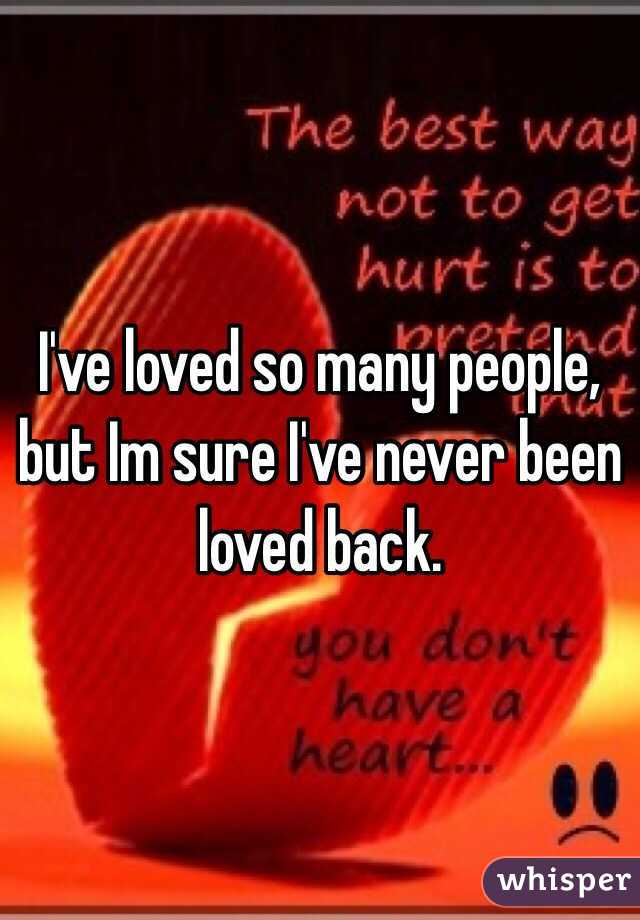 I Ve Been Loved By The Best