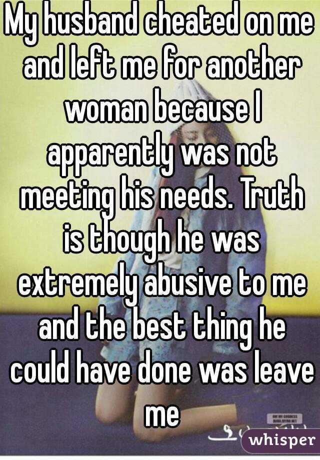 my husband left me