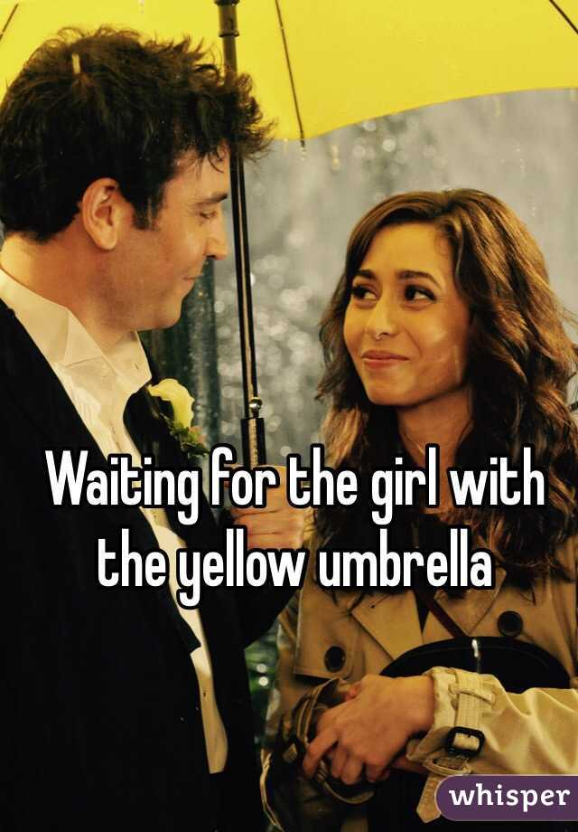 Waiting for the girl with the yellow umbrella