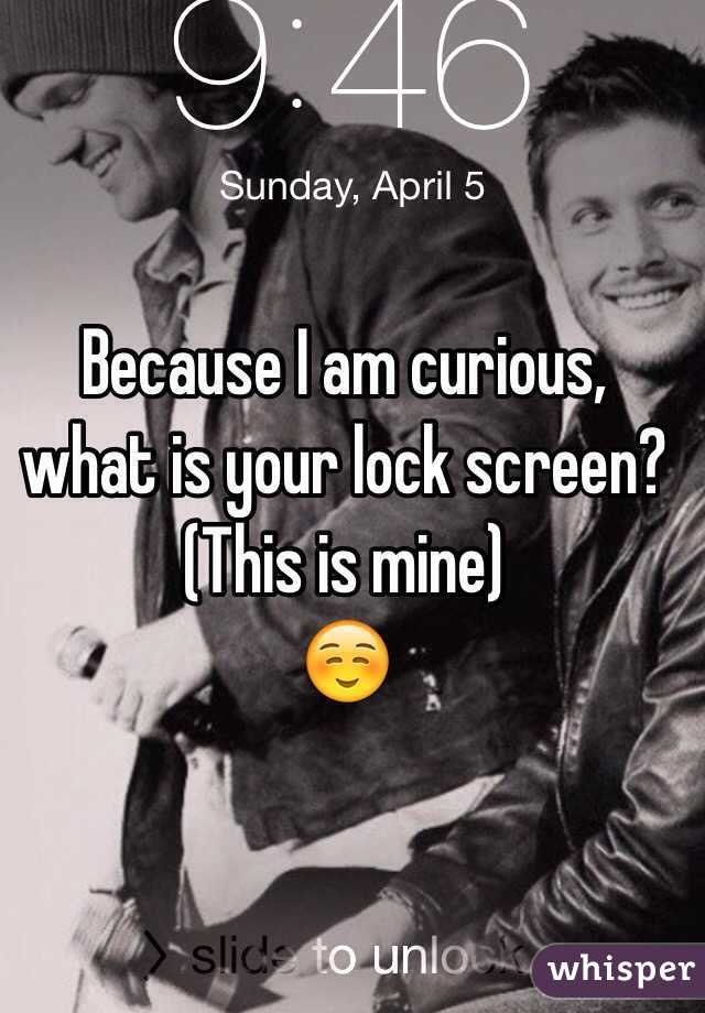 Because I am curious, what is your lock screen?  (This is mine) ☺️