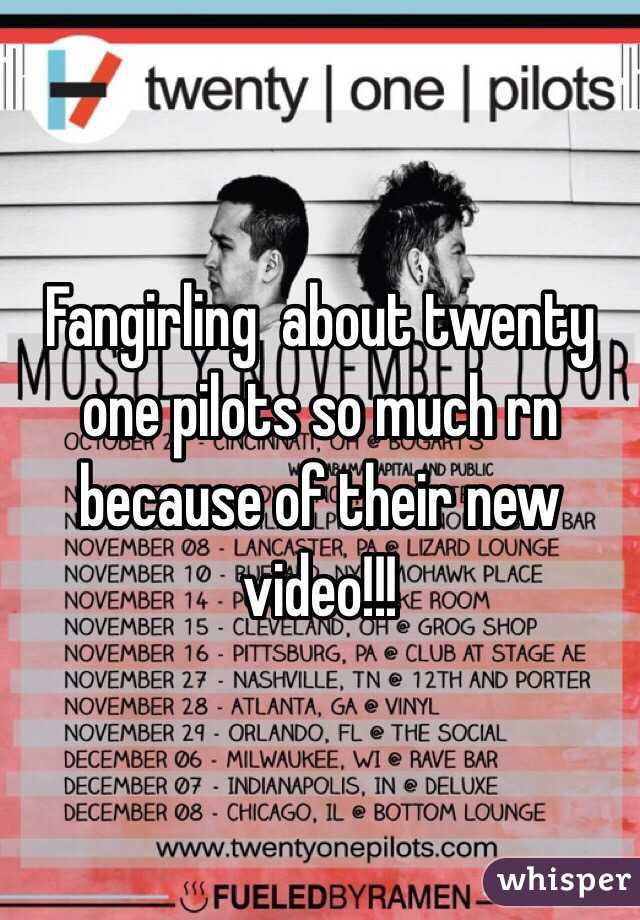 Fangirling  about twenty one pilots so much rn because of their new video!!!