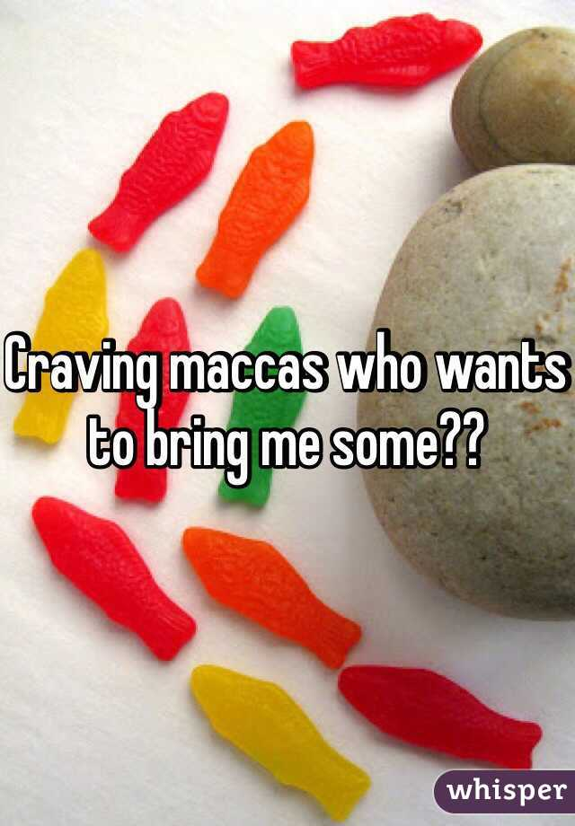 Craving maccas who wants to bring me some??
