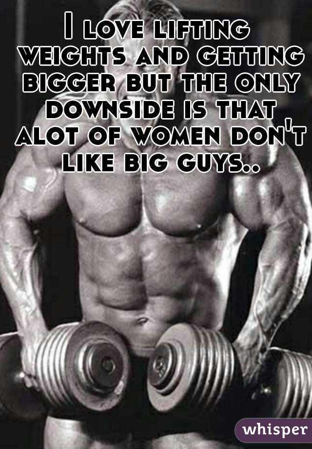 Women who love big guys