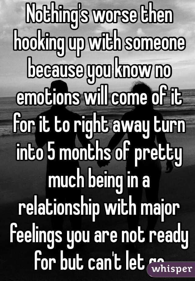 no relationship no emotions