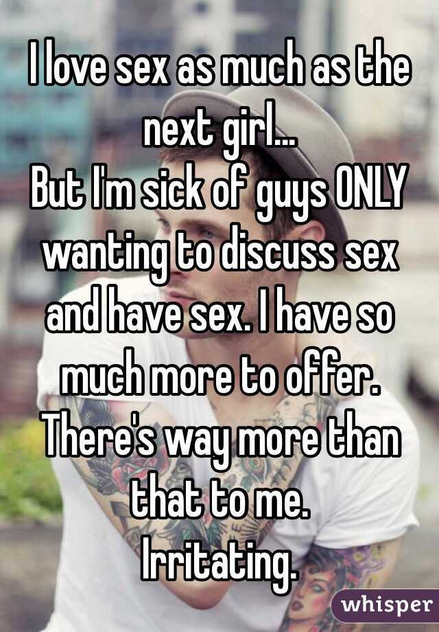 Wanting sex to much