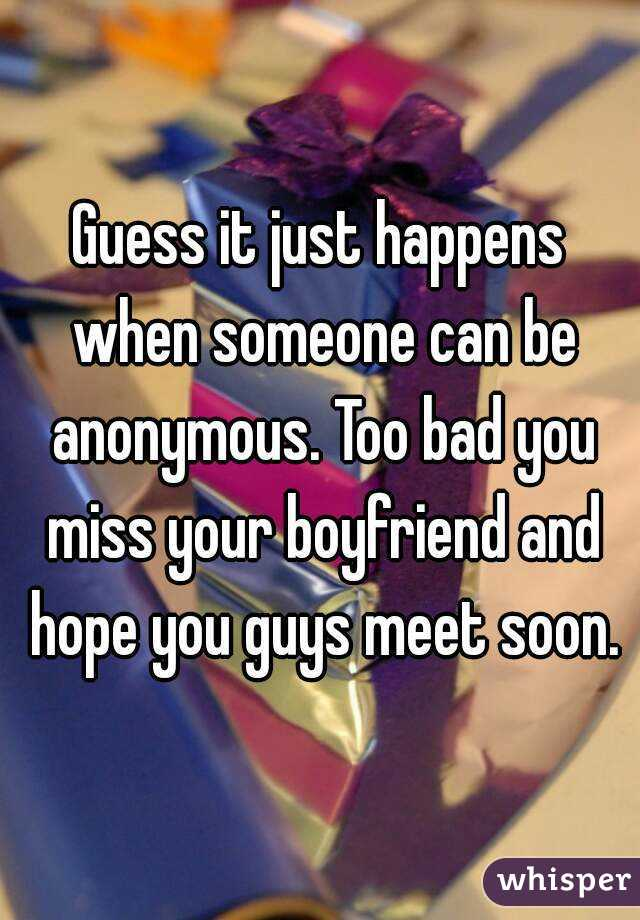 what to say when you miss your boyfriend