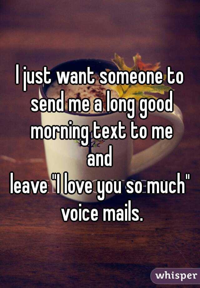 good morning text to someone you love