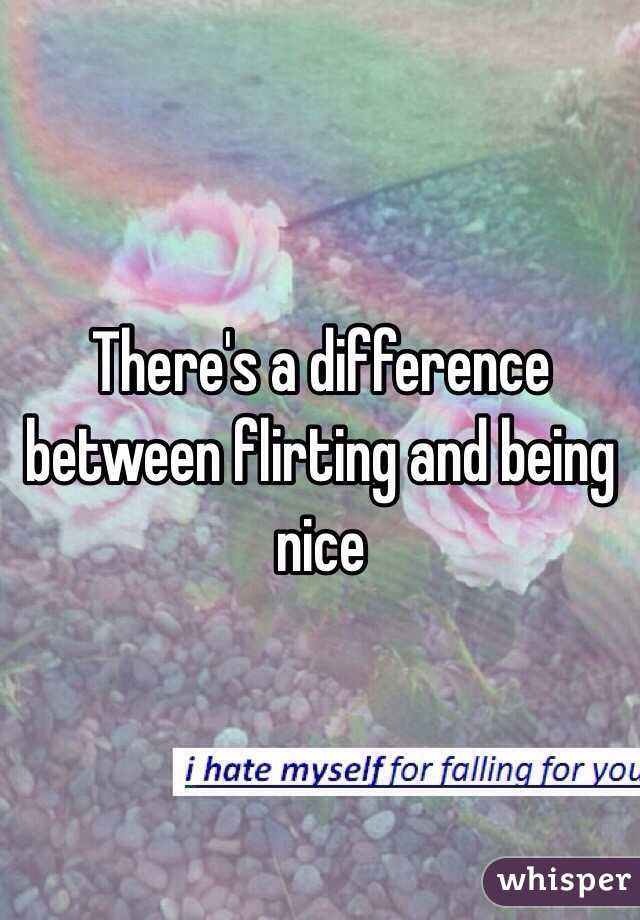 what is the difference between flirting and being friendly