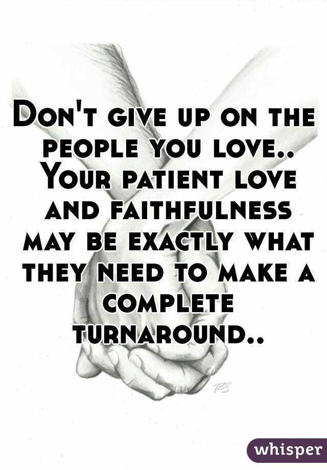 How to be patient in love