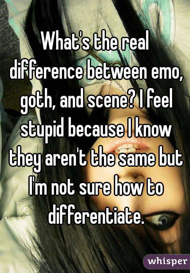 whats the difference between emo and scene