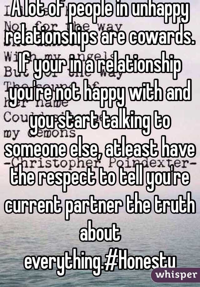 Signs That You Re Not Happy In A Relationship