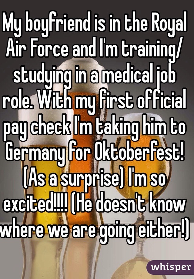 my boyfriend is going to the air force