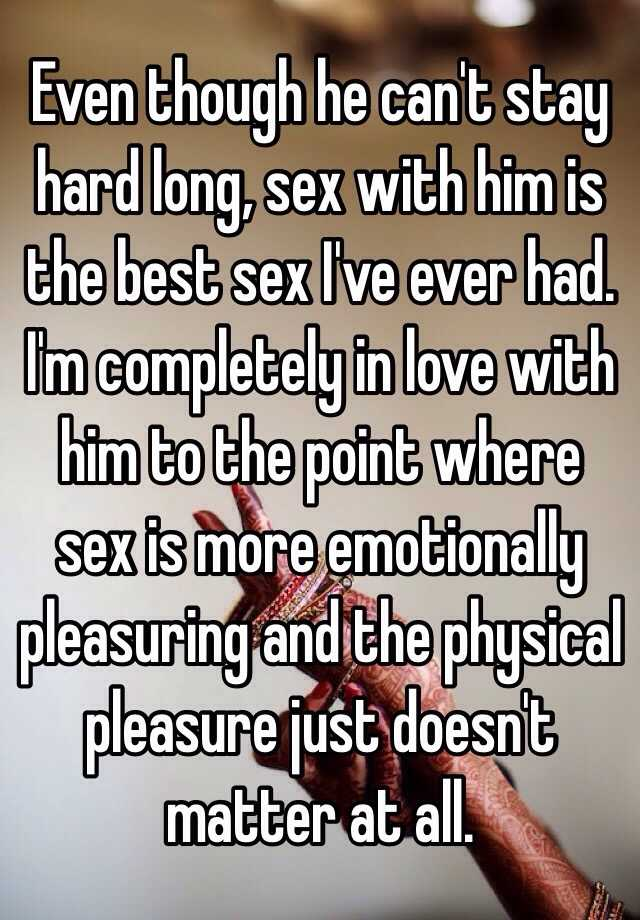 Reasons a guy cant stay hard