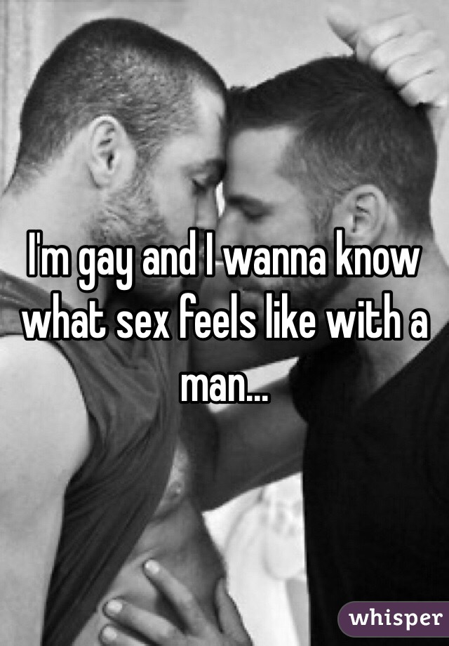 What sex feels like to a man