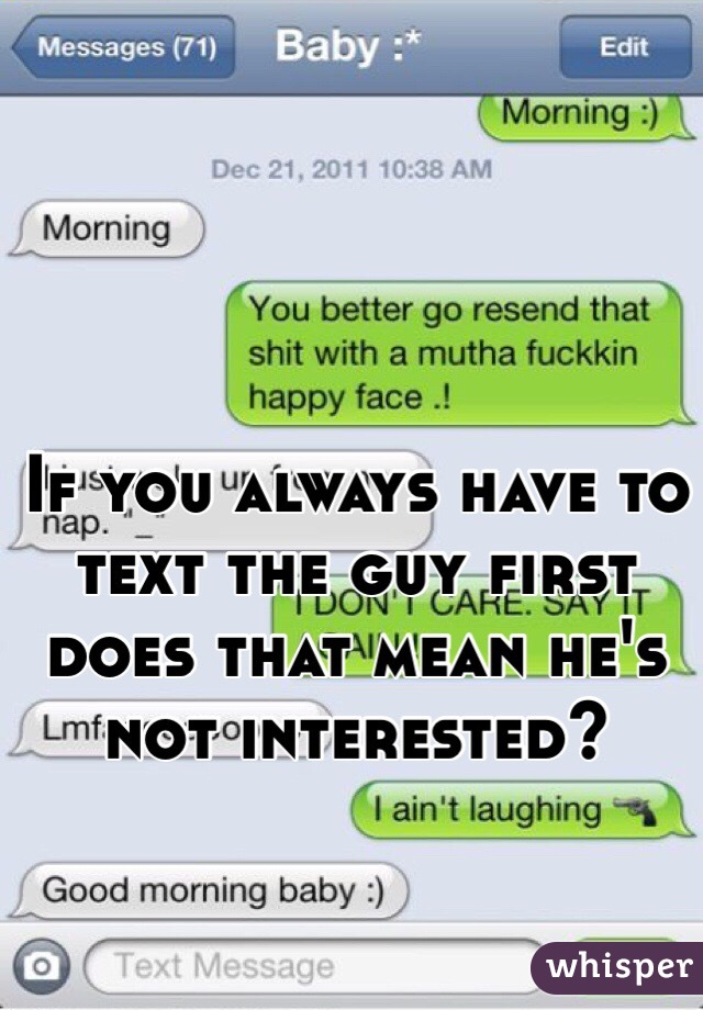 Is It Okay To Text A Guy First